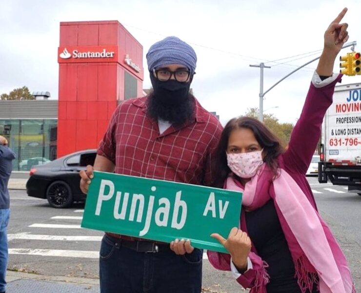 """New York street named Punjab Avenue: Punjabis in Queens named """"Punjab Av"""" to celebrate contri of South Asian community to Richmond Hill area."""